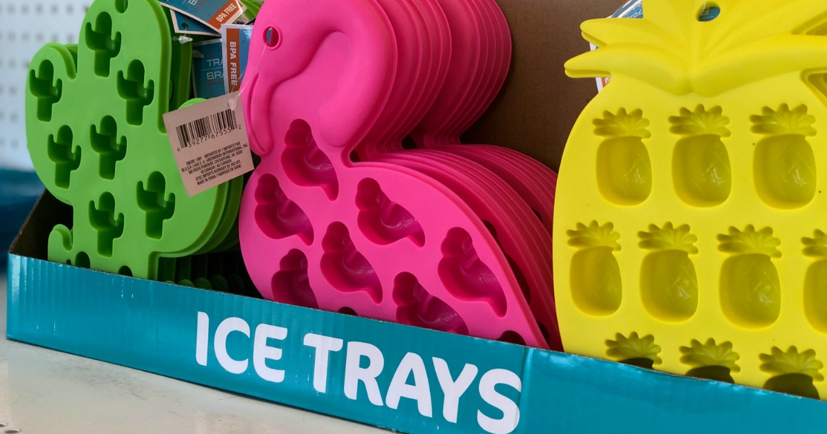 Colorful Silicone Ice Cube Trays Just $1 at Dollar Tree (Cactus, Pink Flamingo & Pineapple)