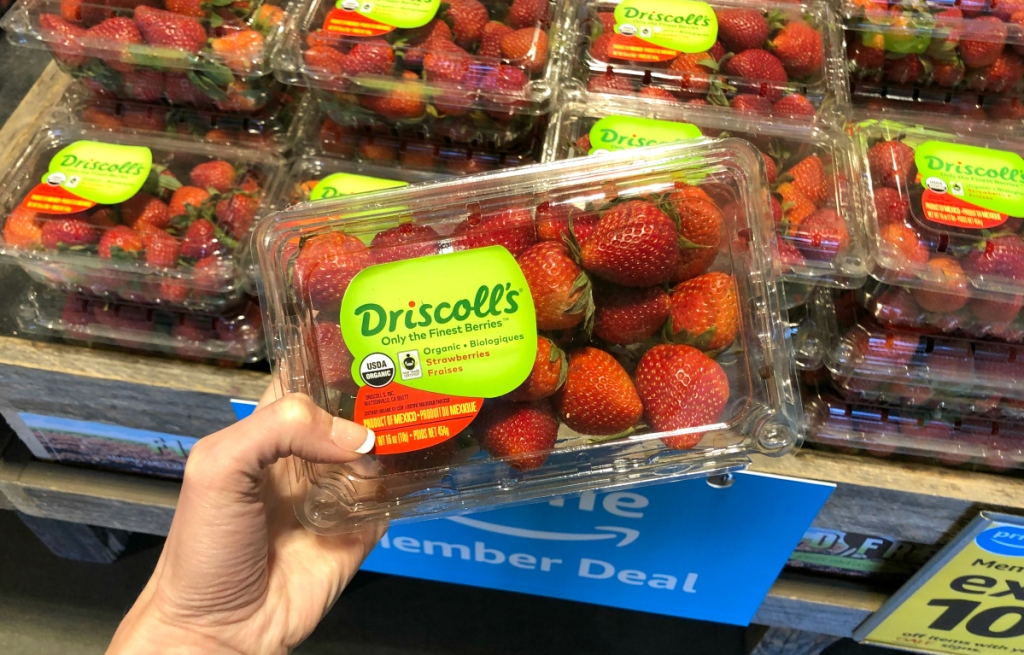 Driscoll's strawberries at Whole Foods
