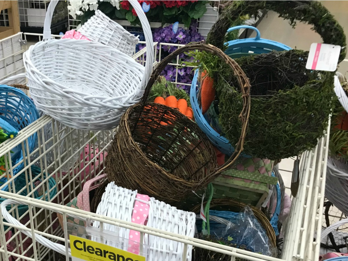 easter baskets at michaels