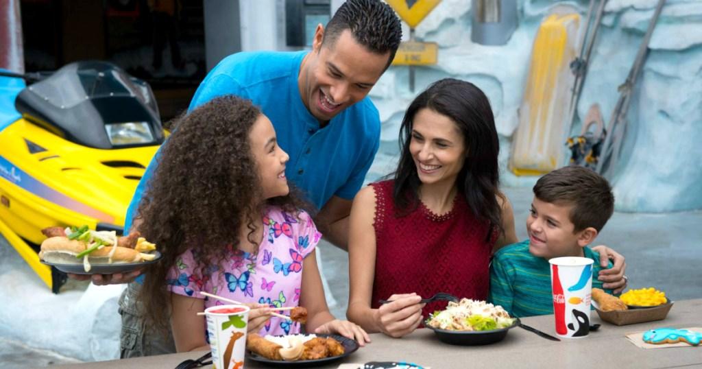 Family visiting SeaWorld Orlando