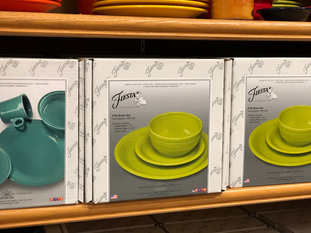 Fiesta Bistro 3-Piece Sets on shelf