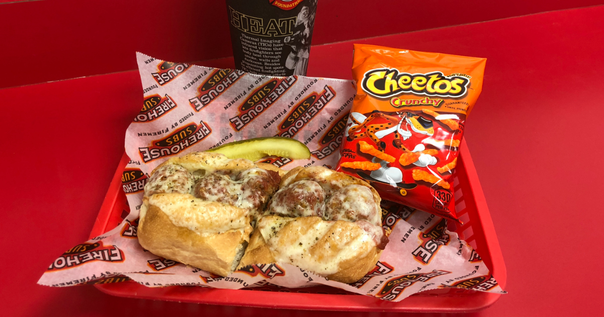 Firehouse Subs sandwich in a basket