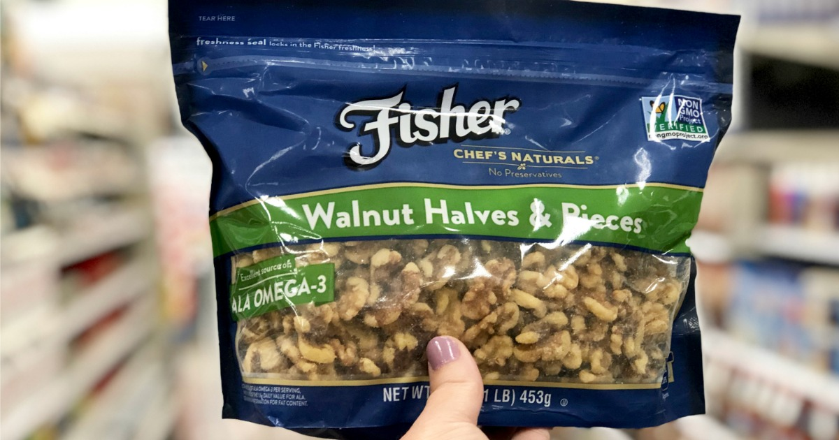 High Value $2/1 Fisher Baking Nuts Coupon = Only $3.99 at Target (Regularly $8)