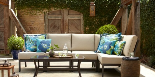 Garden Treasures Sectional Patio Set w/ Cushions Only $398 at Lowe's (Regularly $698)
