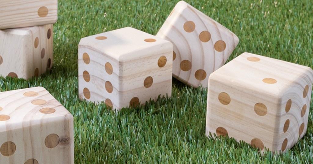 Giant Wooden Dice Set