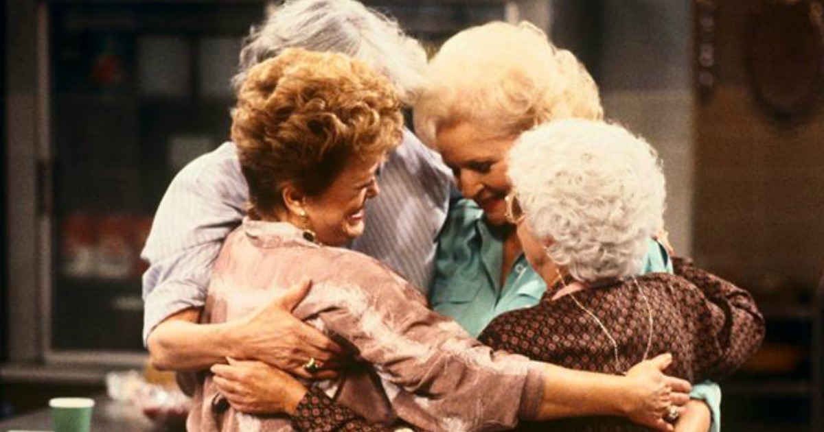 the golden girls hugging