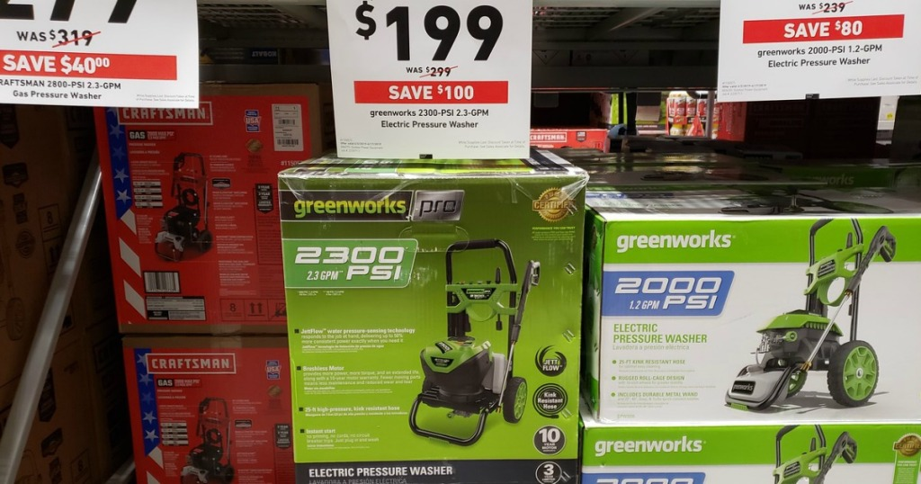 Greenworks Electric Pressure Washer Only $199 at Lowe's