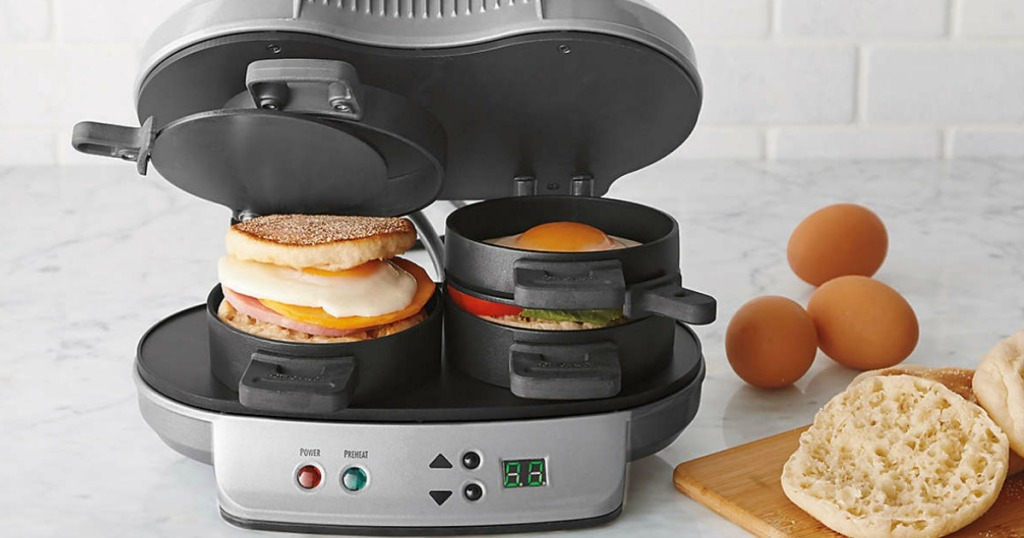 video hamilton beach breakfast sandwich maker