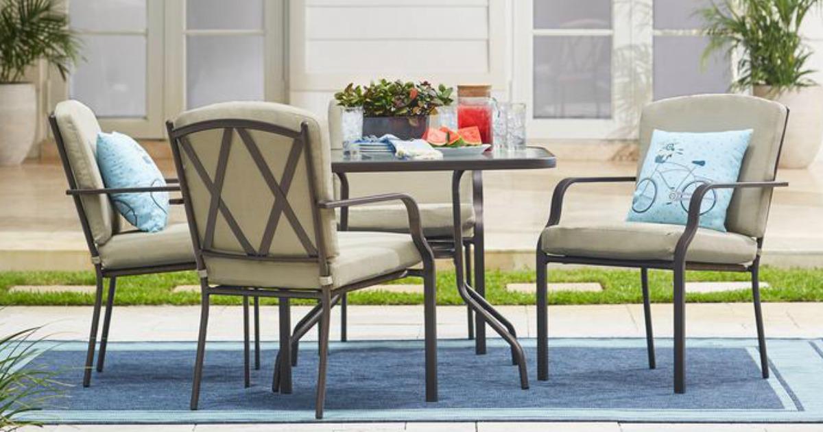 Hampton Bay Bradley 5-Piece Outdoor Dining Set w/ Cushions
