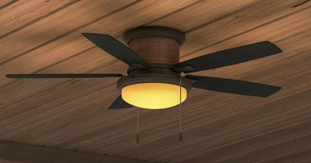 Hampton Bay Indoor Outdoor Ceiling Fan W Led Light Kit As