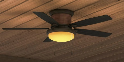 Hampton Bay Indoor/Outdoor Ceiling Fan w/ LED Light Kit as Low as $79.97 Shipped