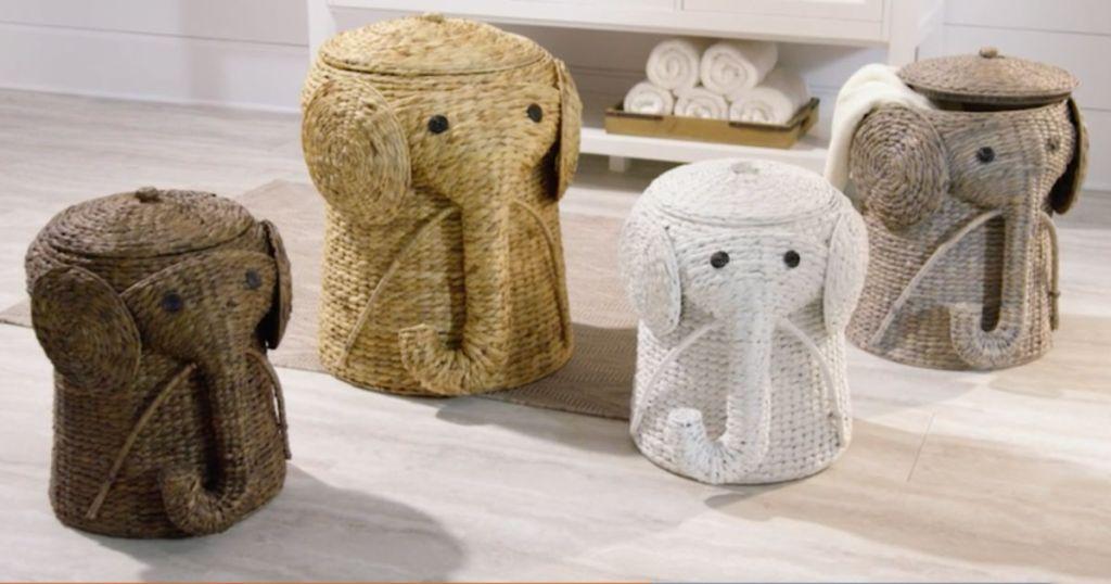 elephant laundry hampers