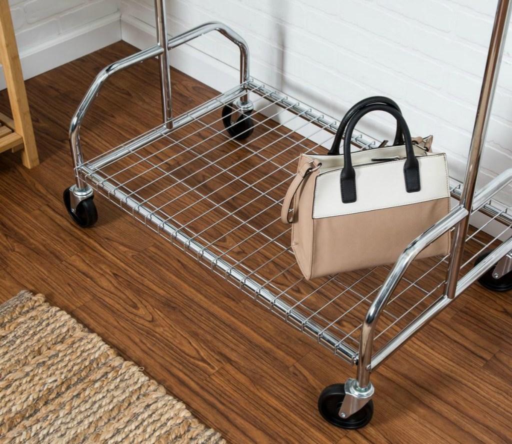 Honey-Can-Do Steel Rolling Garment Rack w/ Shelf Just $25 85