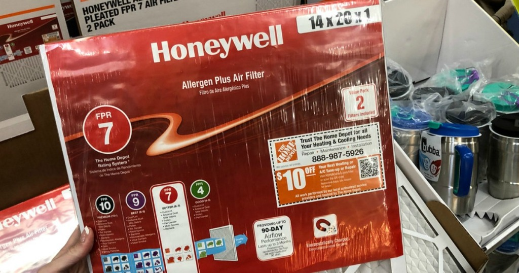 Honeywell Air filters in Home Depot