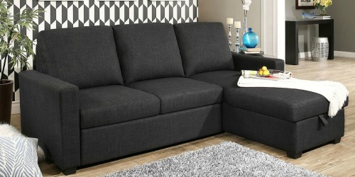 Reversible Storage Sectional w/ Pullout Bed Only $399 Shipped (Regularly $855)