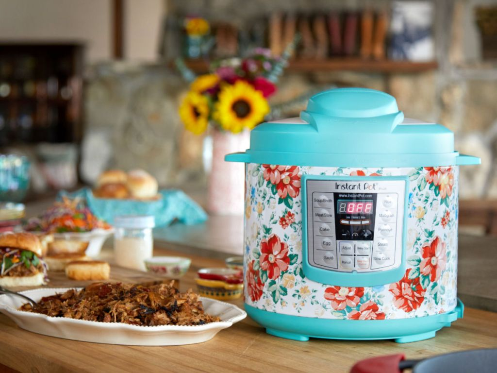 Instant Pot Pioneer Woman Teal in kitchen setting