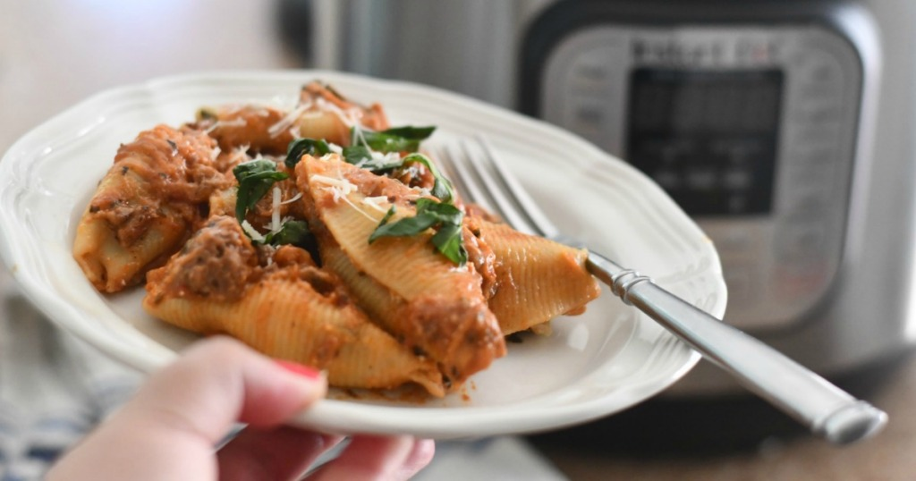 Instant Pot Stuffed Shells with Meat Sauce Recipe