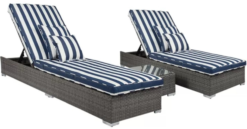 Acacia Wood 4 Piece Patio Set W Cushions Just 338 91 Delivered More Hip2save