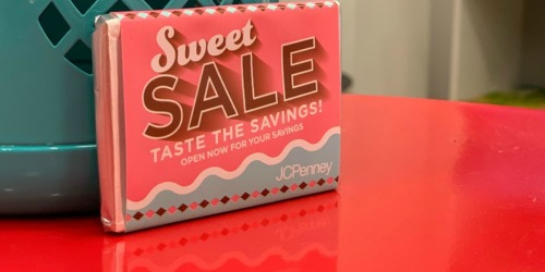 JCPenney Mystery Coupon Giveaway w/ Free Chocolate Bar = Up to 50% Off Entire Purchase (4/18-4/20)