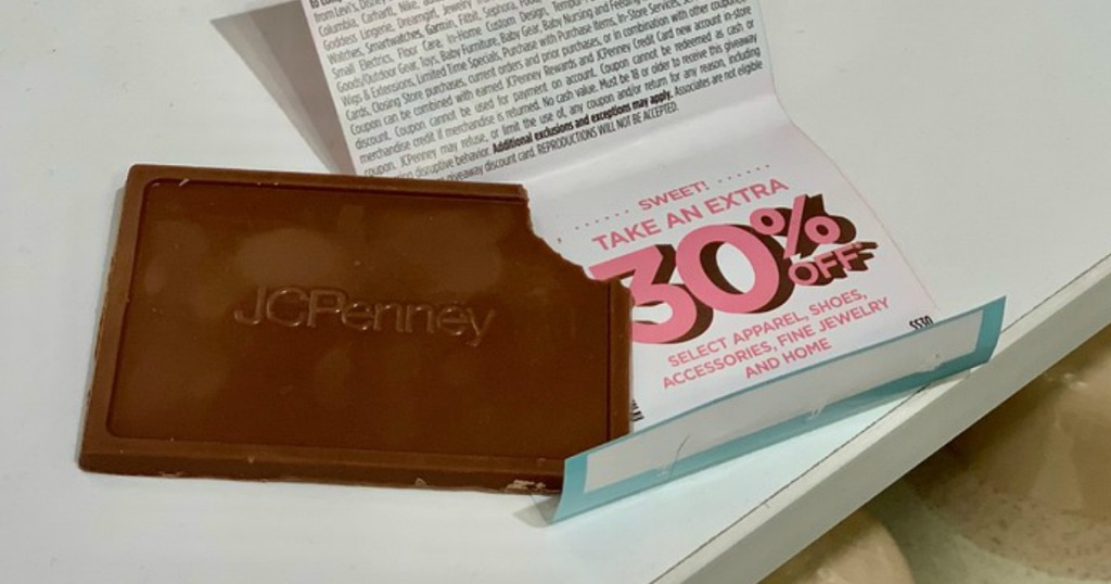 dd2d55ea JCPenney Mystery Coupon Giveaway w/ Free Chocolate Bar = Up to 50 ...