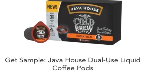 Free Sample of Java House Coffee Pods