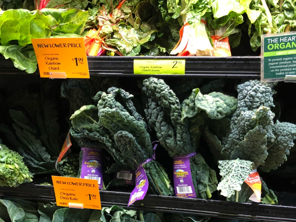 Kale and Chard at Whole Foods