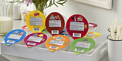 Amazon: Kellogg's Assorted Cereal Cups 60-Count Only $41 Shipped (Just 69¢ Each) + More
