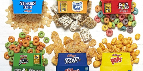 Kellogg's Cereal Variety Pack 30-Count Mini Boxes Only $6.43 at Amazon