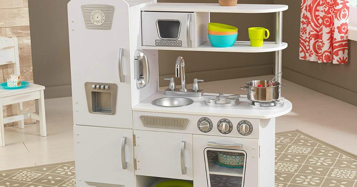KidKraft White Vintage Kitchen in a playroom