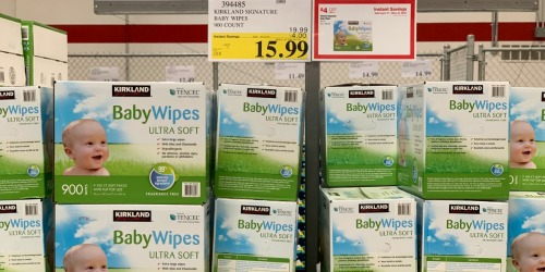 HUGE Kirkland Signature Fragrance-Free Baby Wipes Box ONLY $15.99 For Costco Members