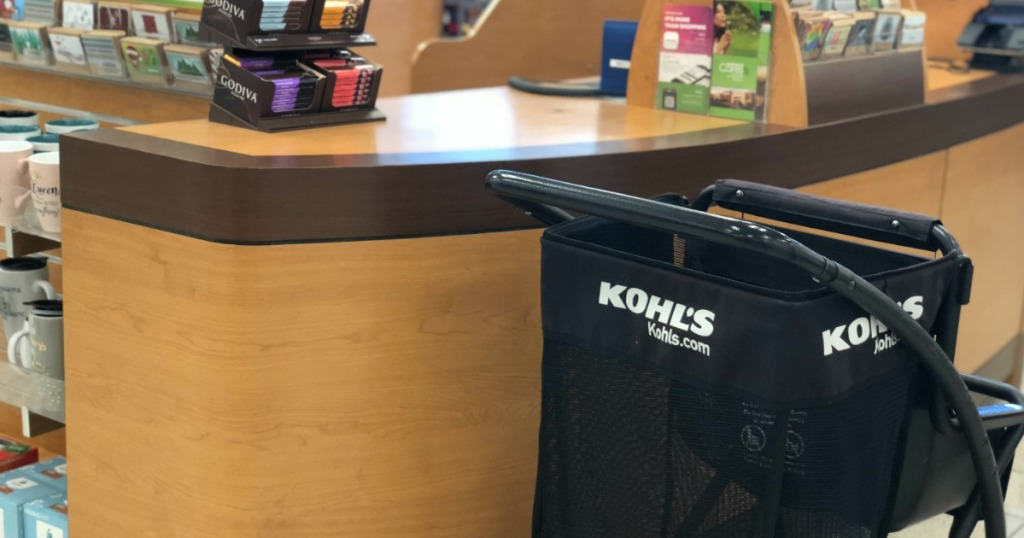 Kohl's shopping cart by checkout