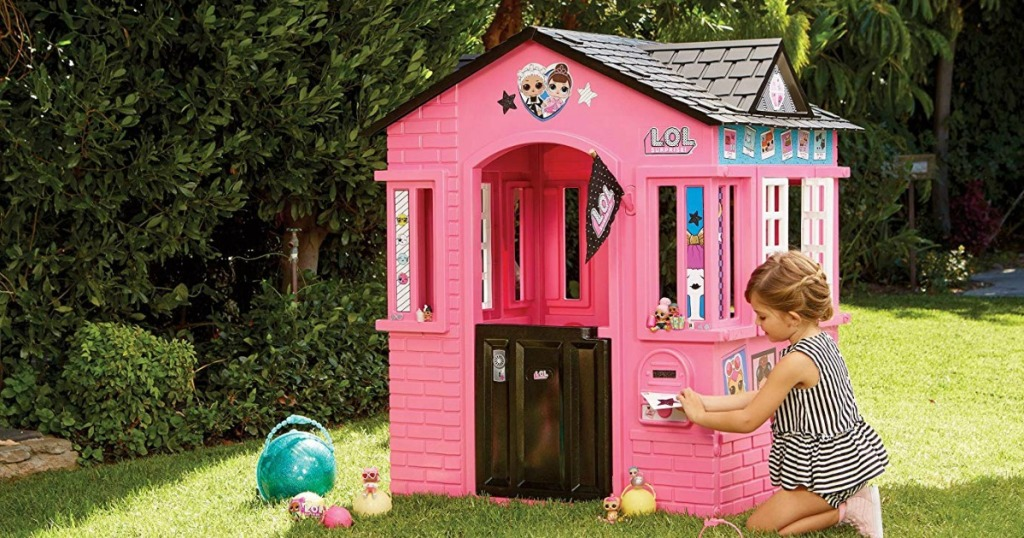 Indoor Outdoor Cottage Playhouse Only 79 99 Shipped Regularly 140
