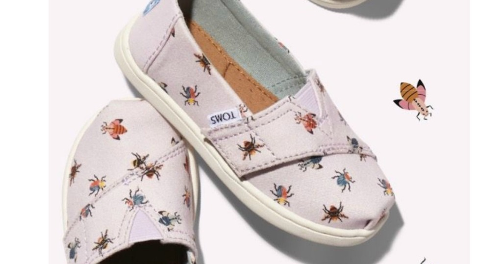 11285b376a3 Lavender Bugs Tiny TOMS Classics  18.99 (regularly  35.95) Use your unique  promo code ( 10 off) Shipping is free. Final cost  8.99 shipped!