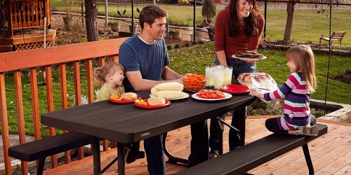 Lifetime 6′ Wood Grain Picnic Table Only $149.98 Shipped (Weather Resistant w/ Seating for EIGHT)