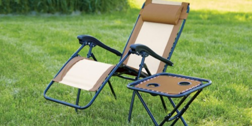Living Accents Steel Relaxer Chair w/ Headrest Only $29.99 at Ace Hardware