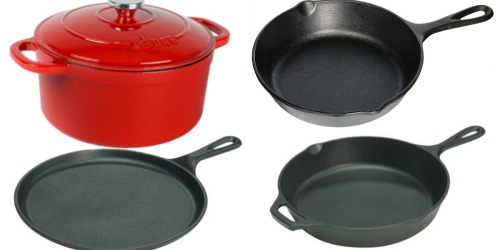 Lodge 5-Piece Seasoned & Enameled Cast Iron Cookware Set Just $59.64 Shipped (Regularly $80)