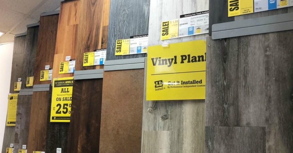 Lumber Liquidators Assorted Flooring on Display