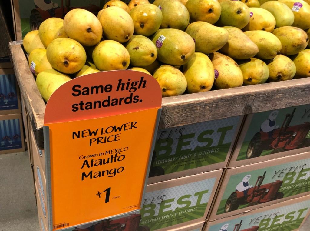 Mangoes at Whole Foods