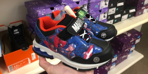 Up to 50% Savings on Kids Superhero Sneakers at JCPenney (Avengers, Wonder Woman, & More)