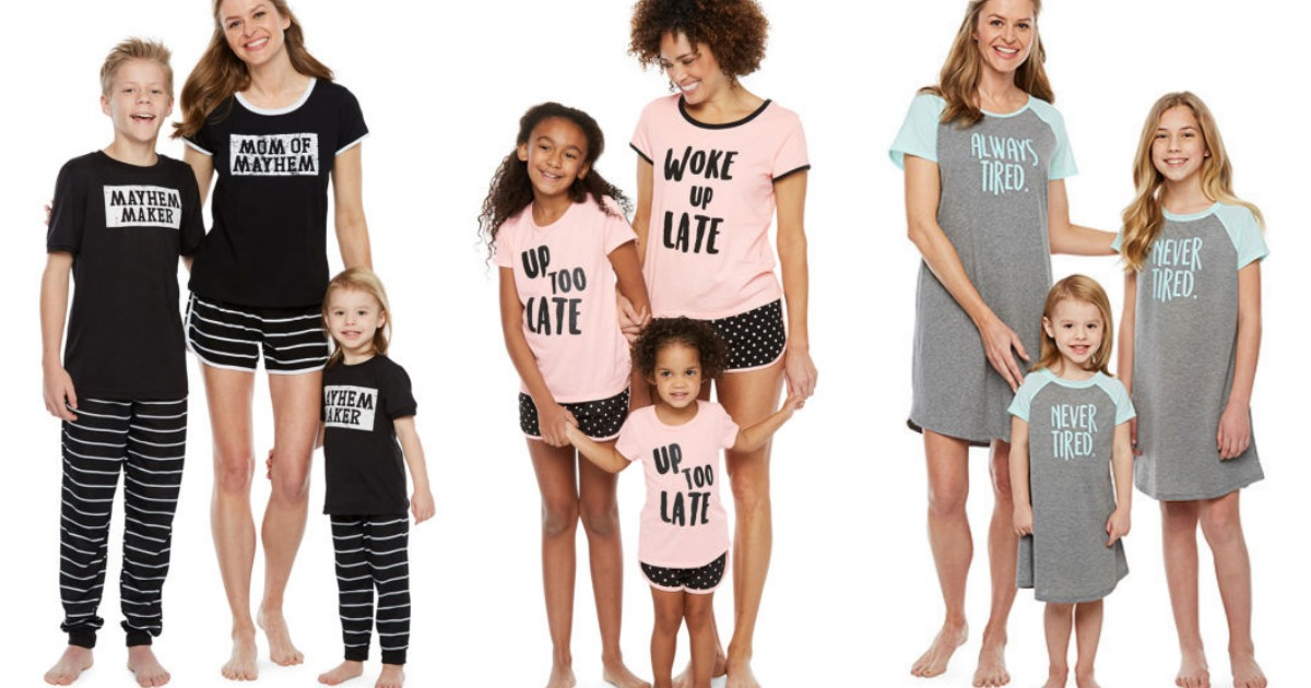 ebb0178c0aa9 Use a code to save on these JCPenney matching pajama sets (in picture on  moms