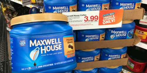Kroger & Affiliate Shoppers: $3.99 BIG Maxwell House Coffees, $1.49 Ruffles/Tostitos, & More (4/12-4/13 Only)