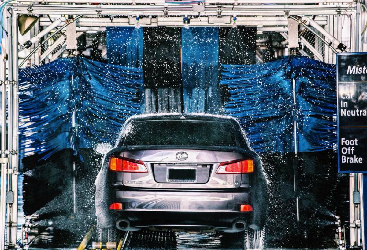 Mister Car Wash washing a car