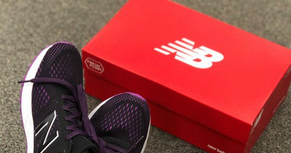 New Balance shoes and a shoebox