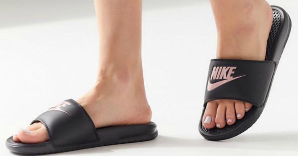 newest 7373b d7629 nike benassi slides womens amazon Nike Benassi JDI Slide Sandals Only  15  Shipped + More