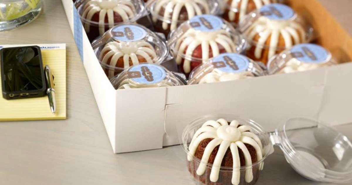Free Nothing Bundt Cakes Mini Bundtlet Cake at 3PM Today (First 300 at Each Bakery)