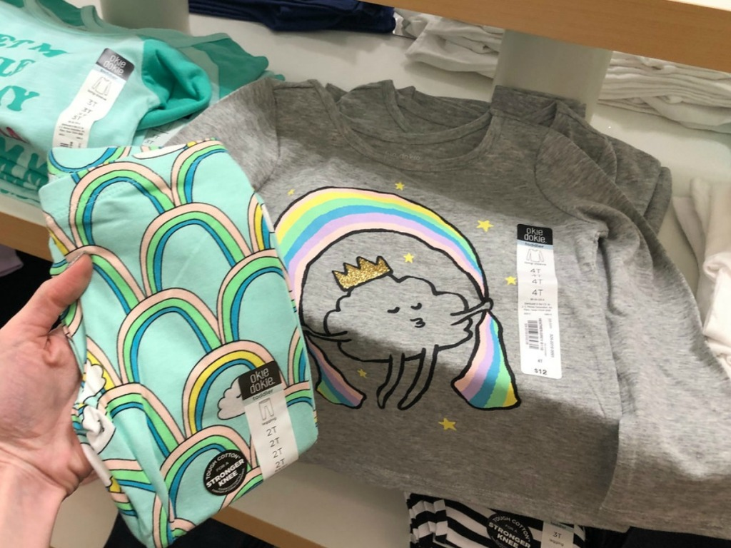 9a09f0d334e0f Buy Okie Dokie Toddler Rainbow Girls Scoop Neck Short Sleeve Graphic  T-Shirt  12