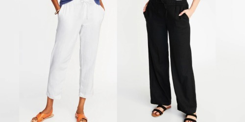 Old Navy Women's Linen Pants ONLY $10 (Regularly $35)