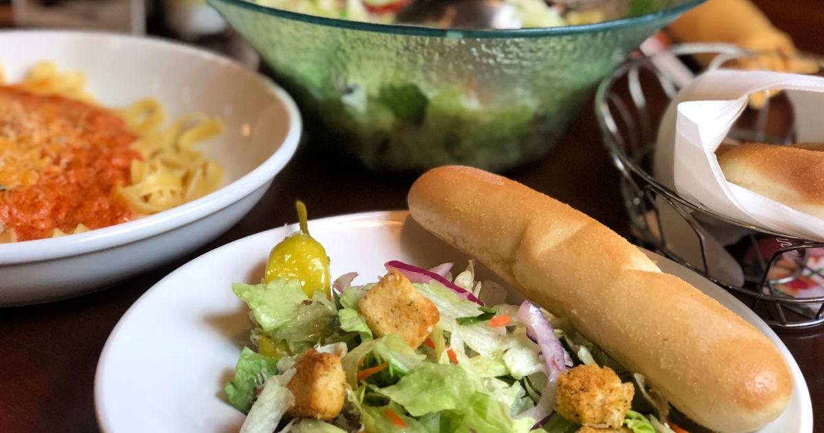 Menu For Olive Garden: Olive Garden Unlimited Soup, Salad & Breadsticks Only $6