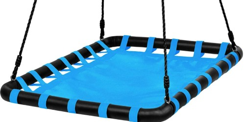 Giant Outdoor Heavy Duty Hanging Platform Swing Just $41.99 Shipped (Fun for Kids & Adults)