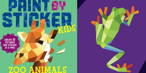 Paint by Sticker Kids Zoo Animals Activity Book Just $5 (Regularly $10)